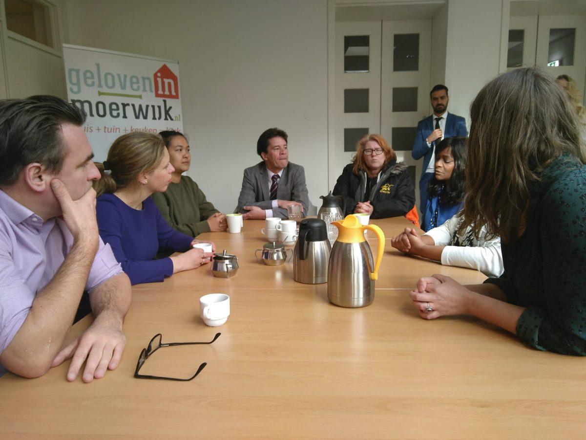 Minister Schouten voor Regiodeal op bezoek in Moerwijk