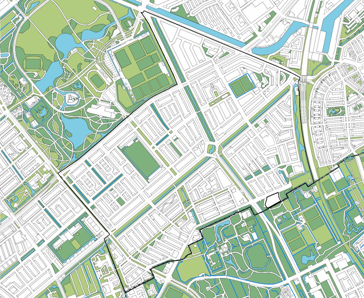 Kaart van Moerwijk Den Haag Moerwijk Coöperatie Bewonersorganisatie Bewonersbedrijf Bewonersplatform van Moerwijk