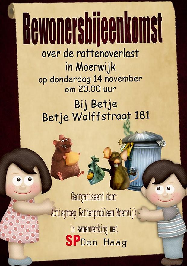 Rattenprobleem Moerwijk bewonersbijeenkomst