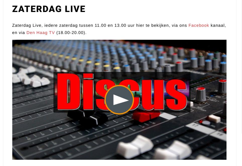 Huis van Gé(zondheid) in RTV Discus Zaterdag Live!